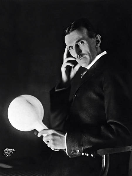 Wall Art - Photograph - Tesla And Wireless Light Bulb by Daniel Hagerman