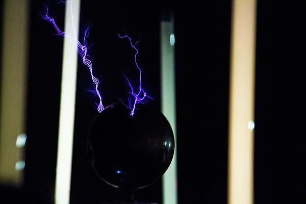 Photograph - Tesla Coil 3 by Tyson Kinnison
