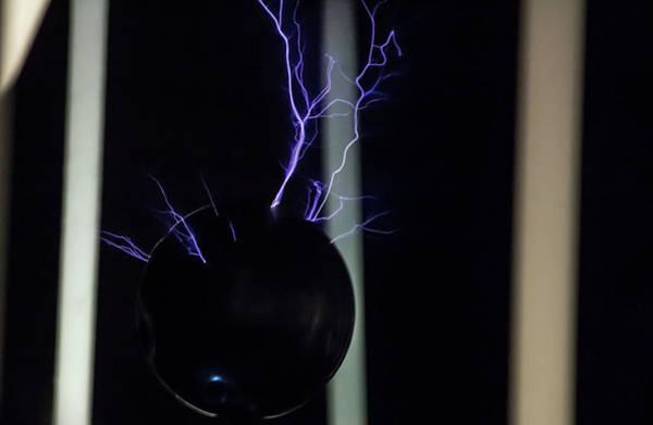 Photograph - Tesla Coil 4 by Tyson Kinnison