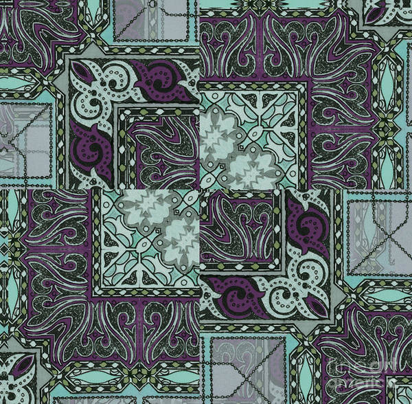 Seamless Painting - Tessa Art Nouveau Pattern by Mindy Sommers