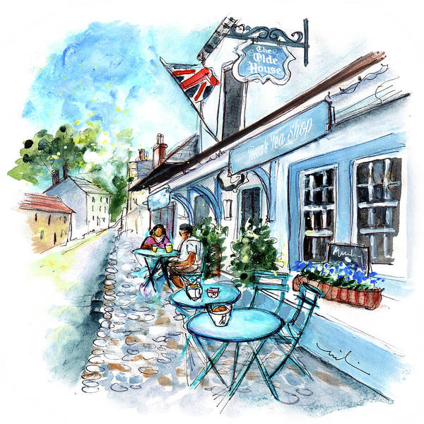Painting - Tessas Tea Room In Dunster by Miki De Goodaboom
