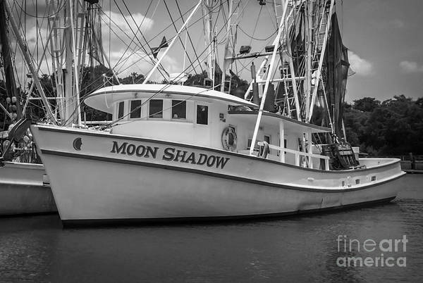 Photograph - Moon Shadow Working Boat by Dale Powell