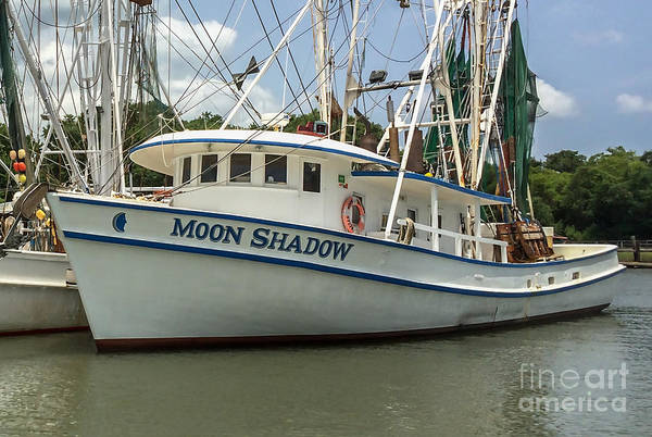 Photograph - Moon Shadow Shrimp Boat In Mccellanville Sc by Dale Powell