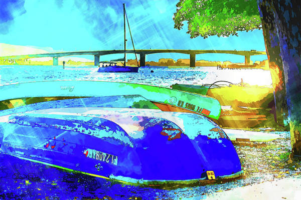 Photograph - The Boats The Bay And The Bridge 2 by Susan Molnar