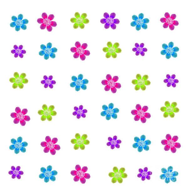 Digital Art - Flower Gems by Rachel Hannah