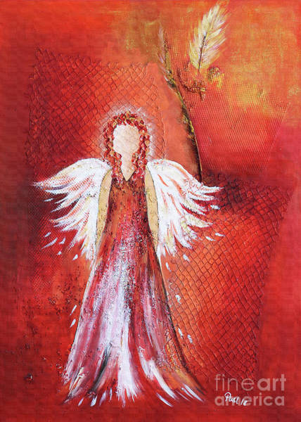 Wall Art - Painting - An Angel by Jutta Maria Pusl