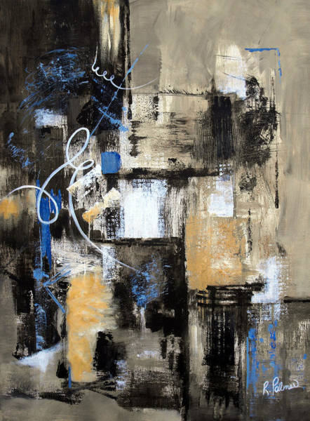 Irregular Painting - Testing The Waters by Ruth Palmer