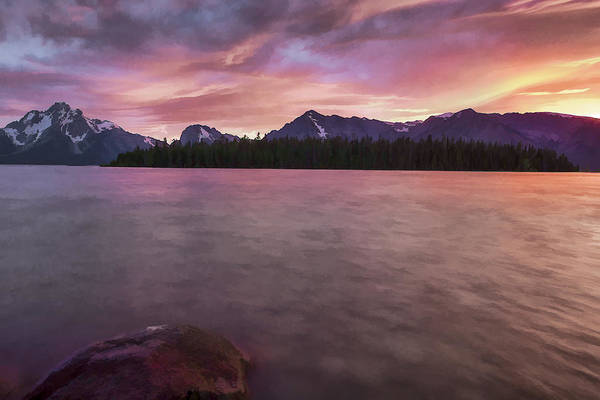 Digital Art - Teton Firesky II by Jon Glaser