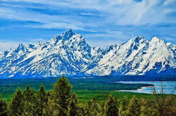 Photograph - Teton Impressions by Greg Norrell
