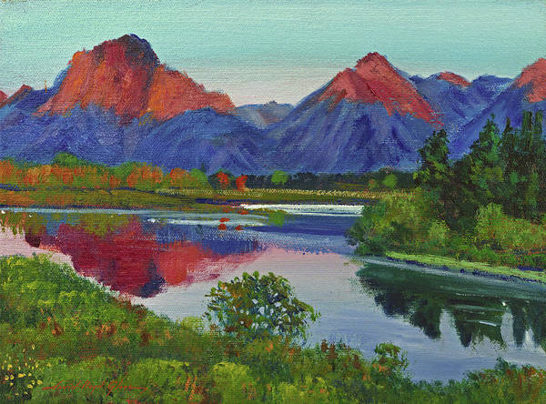 Painting -  Teton Lake by David Lloyd Glover