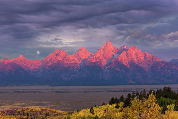 Wall Art - Photograph - Teton Moonset by Kathleen Bishop