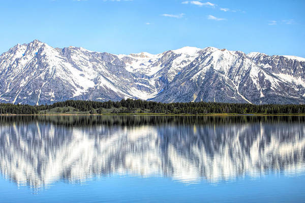 Photograph - Teton Mountains Reflection by Dan Sproul