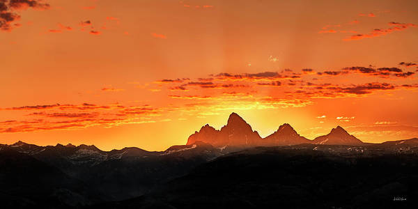 Photograph - Teton Panoramic Sunrise by Leland D Howard
