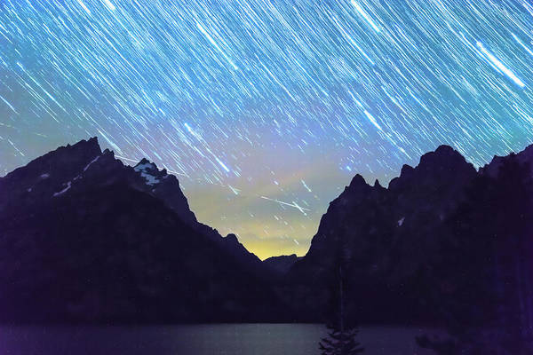 Photograph - Teton Star Trails by James BO Insogna
