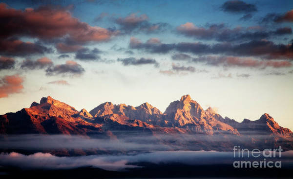 Photograph - Teton Sunrise by Scott Kemper