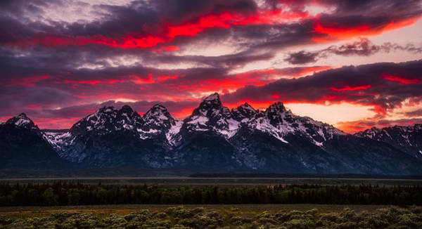 Teton Sunset Art Print