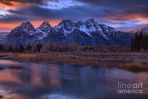 Photograph - Teton Sunset Fall Pastels by Adam Jewell