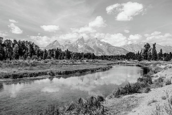 Photograph - Tetons At Schwabacher Landing Monochrome by Margaret Pitcher