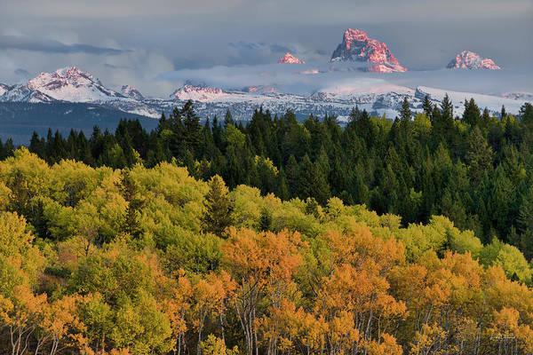Photograph - Tetons From Idaho by Leland D Howard