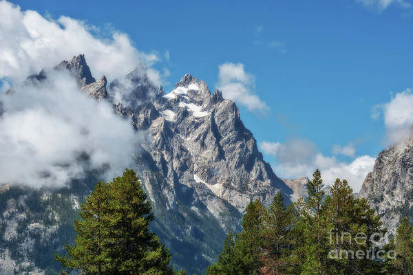 Photograph - Tetons In Clouds by Sharon Seaward