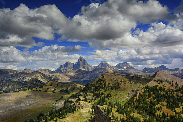 Photograph - Tetons In Early September by Raymond Salani III