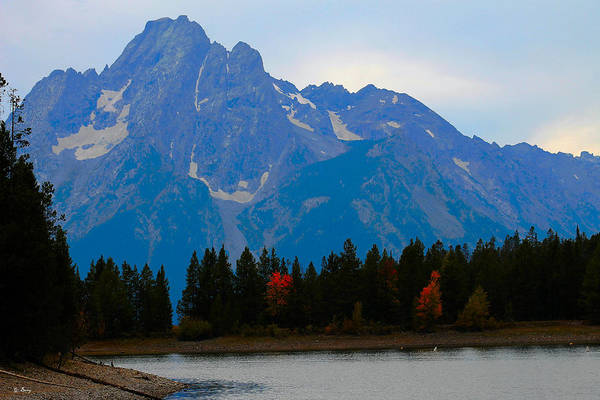 Fall Scenery Mixed Media - Tetons Of Wyoming by G Berry