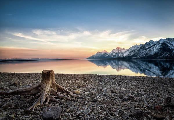 Photograph - Tetons Sunset by Tony Fuentes