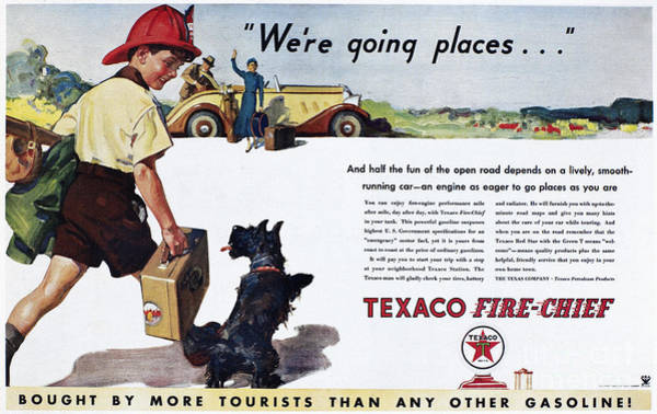 Photograph - Texaco Advertisement, 1934 by Granger