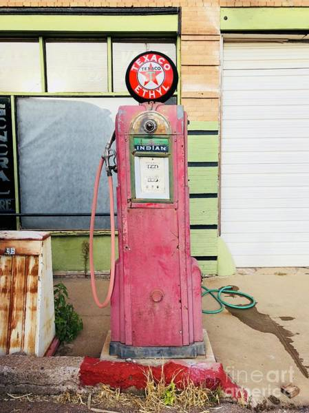 Photograph - Texaco Antique Gas Pump by Tatiana Travelways