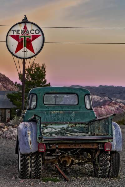 Photograph - Texaco Gas Station by Susan Candelario