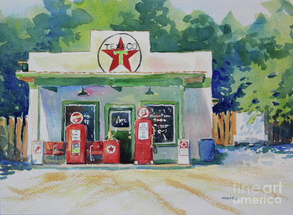 Central Texas Painting - Texaco by Marsha Reeves