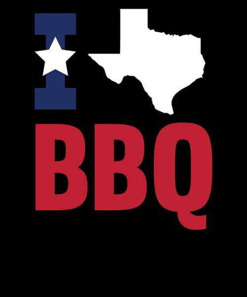 Barbeque Digital Art - Texan Flag Barbecue Texas Gift Bbq by Michael S