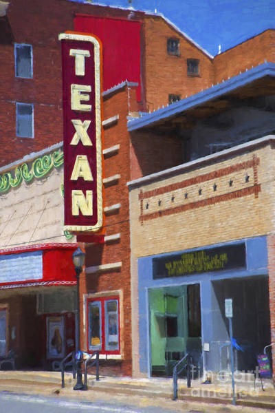 Wall Art - Digital Art - Texan Theater by Elena Nosyreva