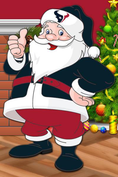 Texans Santa Claus Art Print