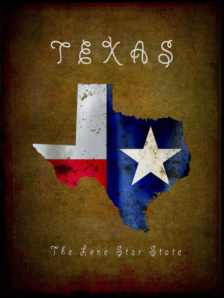 Lone Digital Art - Texas ... The Lone Star State by Daniel Hagerman