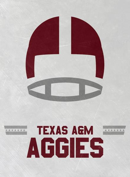 Wall Art - Mixed Media - Texas A M Aggies Vintage Football Art by Joe Hamilton