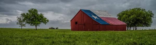 Texas Barn Panorama Art Print