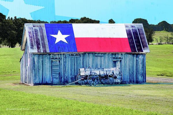 Photograph - Texas Barn Stpnvle by Erich Grant