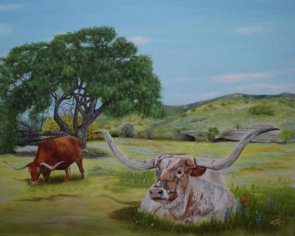 Central Texas Painting - Texas Blessings By The Grace Of God by Belinda Nagy