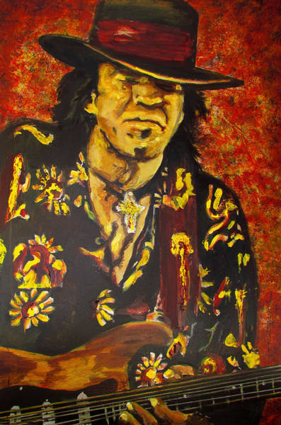 Painting - Texas Blues Man- Srv by Eric Dee