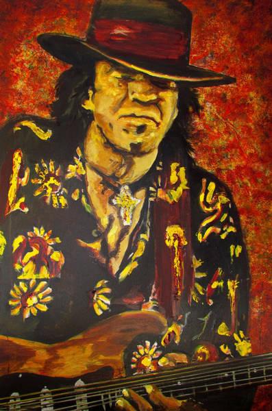 Texas Blues Man- Srv Art Print