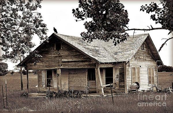 Wall Art - Photograph - Texas Buzzard Farmhouse I by Chris Andruskiewicz