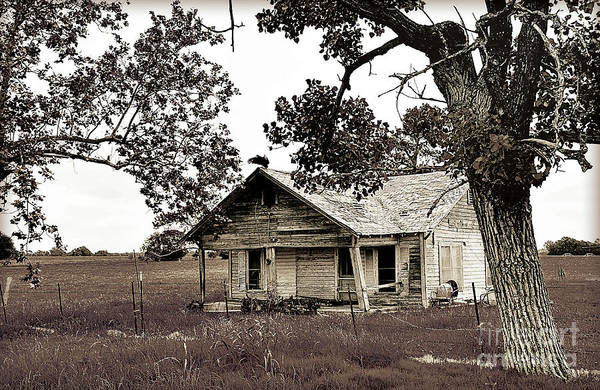 Wall Art - Photograph - Texas Buzzard Farmhouse II by Chris Andruskiewicz