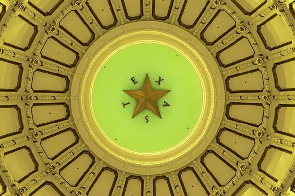 Photograph - Texas Capitol Building Dome - Austin Tx by Gregory Ballos