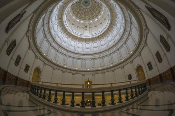 Texas Capitol Dome Wide Angle Art Print