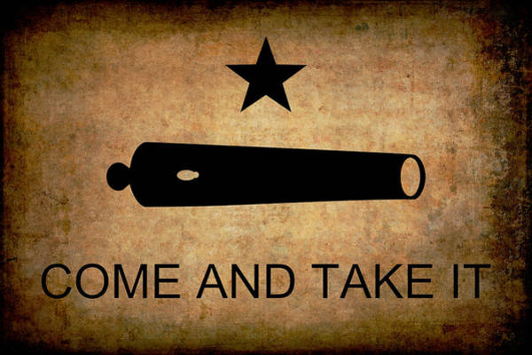 Pride Photograph - Texas Come And Take It Flag  1835 by Daniel Hagerman