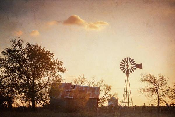 Photograph - Texas Farm Dawn by Joan Carroll