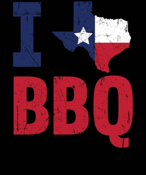 Barbeque Digital Art - Texas Flag Barbecue Texan Gift Bbq by Michael S