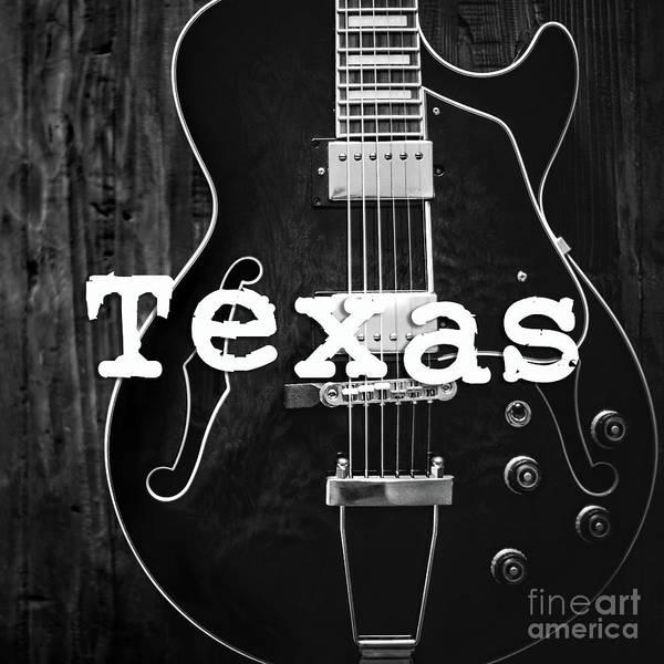 Honky Tonk Photograph - Texas Guitar by Edward Fielding