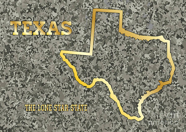 Granite State Digital Art - Texas In Stone by Bigalbaloo Stock